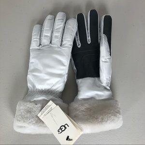 UGG Fontanne Smart Gloves Shearling Trim NWT